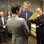 Institut Supérieur Européen du Lobbying - Promotion 2011-2012 - Remise de diplôme par le député Jean Lassalle - ISEL PARIS